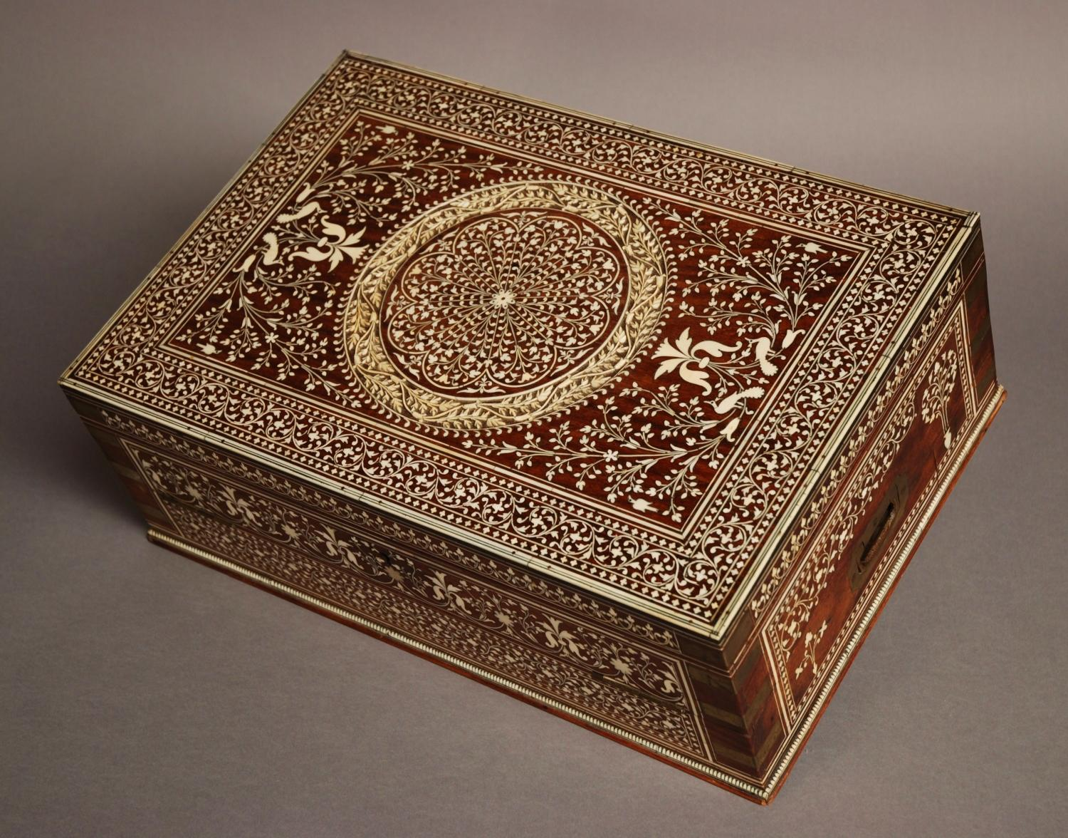 a 19thc anglo indian brass bound amp ivory box in sold archive