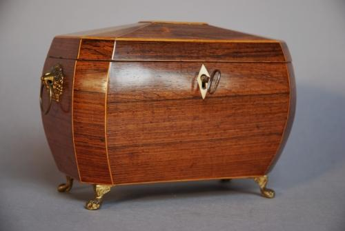 19thc bombe shaped tea caddy