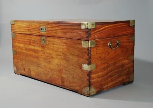 Military camphor wood travelling trunk