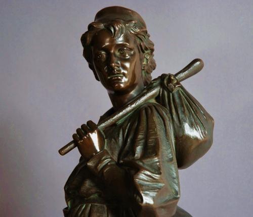 Large 19th century bronze of Dick Whittington