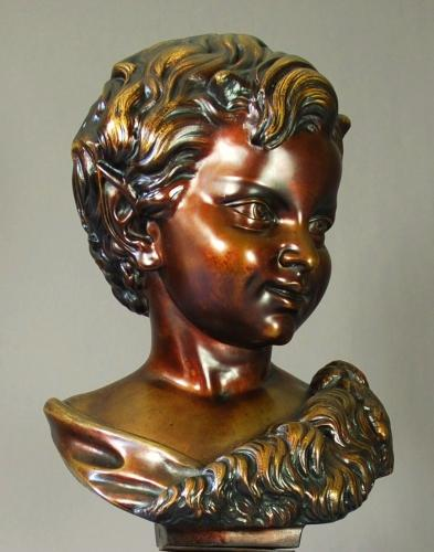 Bronze of a fawn