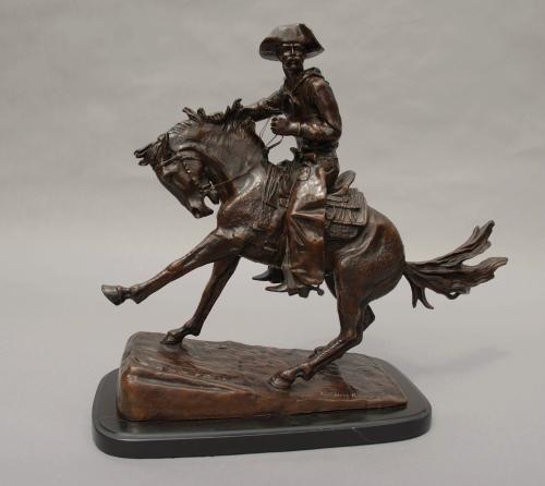 Bronze 'The Cowboy' after Frederic Remington