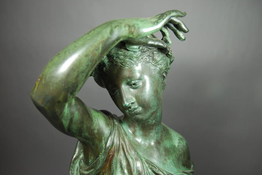 19thc bronze figure of Ceres
