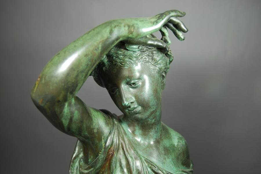 19thc bronze figure of Ceres