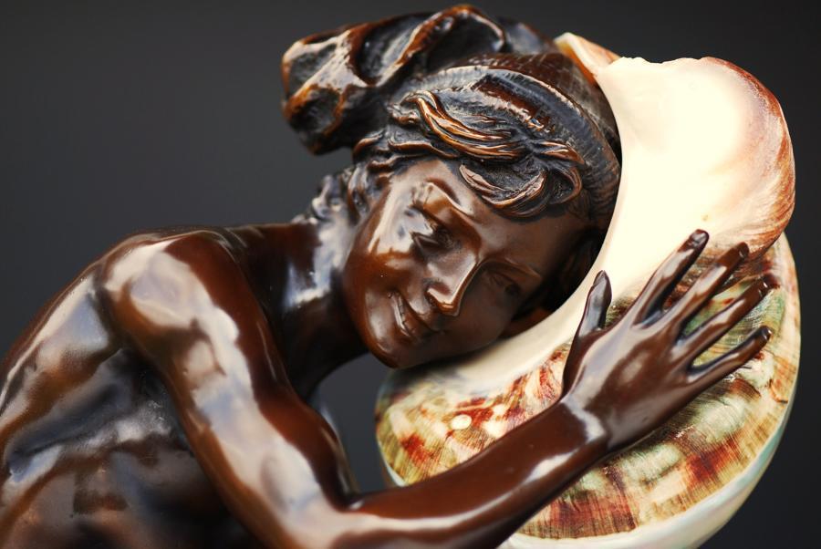 Bronze figure of Fisherboy