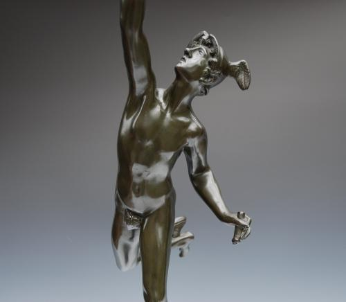 19thc bronze figure of Mercury