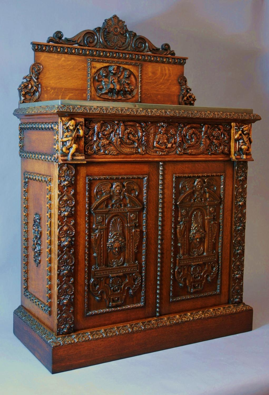 Oak Cabinet With Renaissance Carved Panels   Picture 1 ...