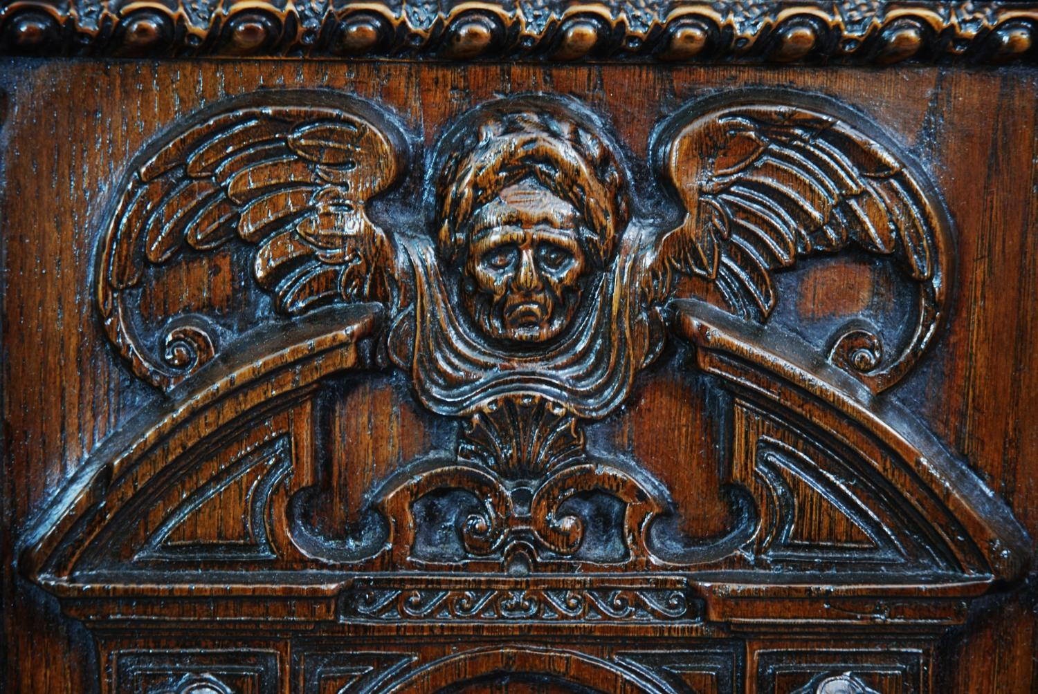 Oak Cabinet With Renaissance Carved Panels In Sold Archive
