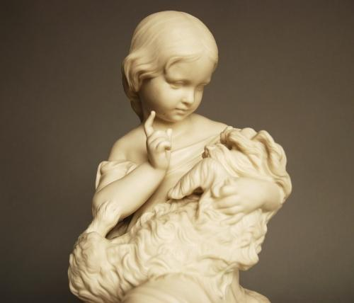 19thc Parian figure 'Go to Sleep'