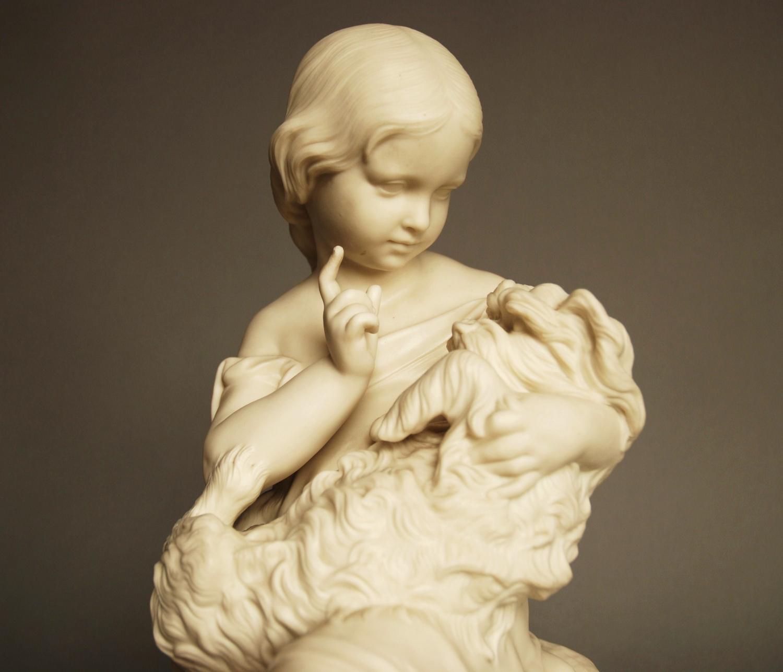 19thc Parian figure 'Go to Sleep'
