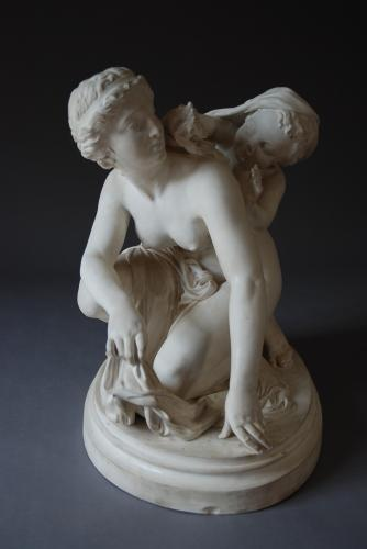 19thc large Parian figure