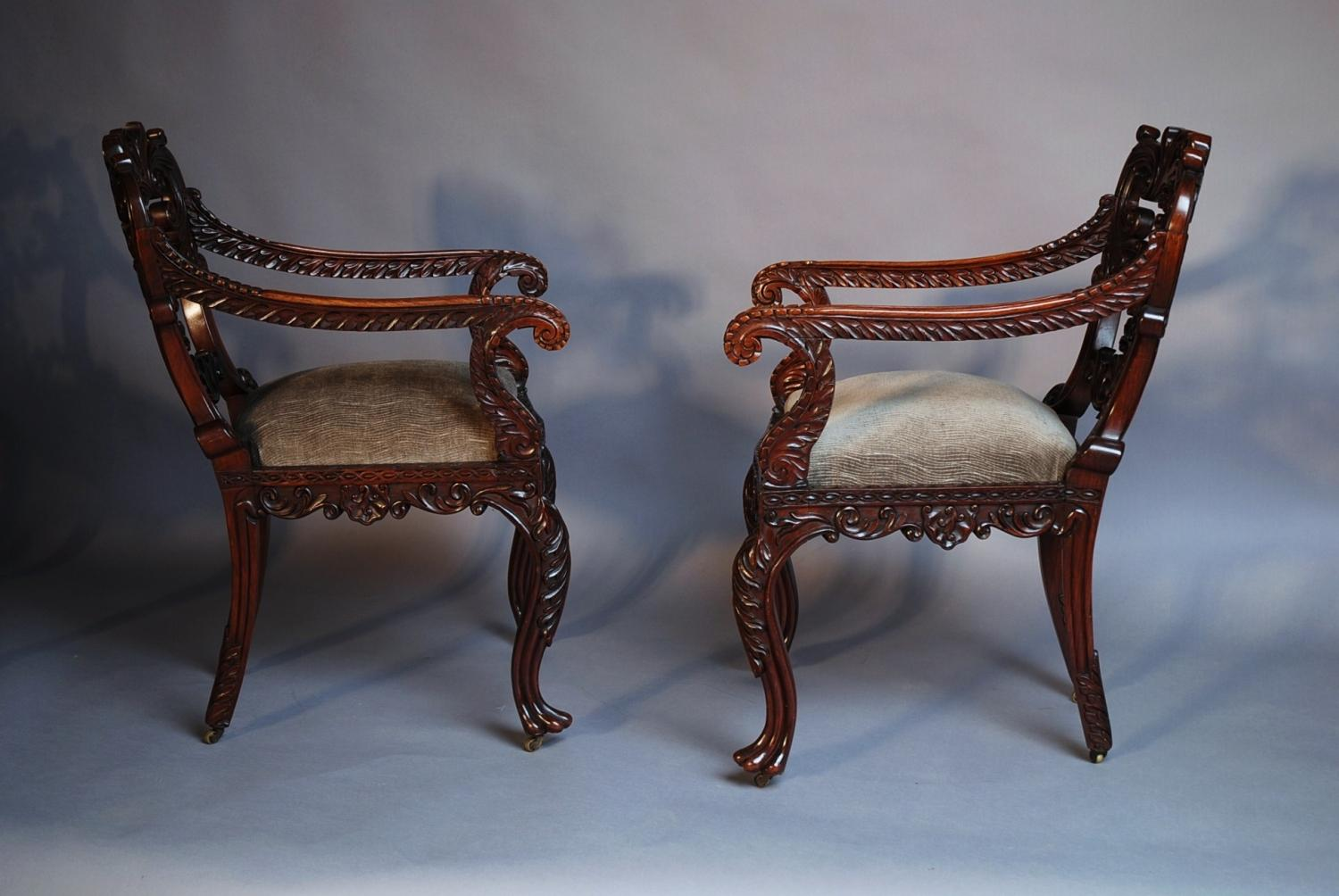 ... 19thc Set Of Six Padouk Anglo Indian Chairs   Picture 7 ...