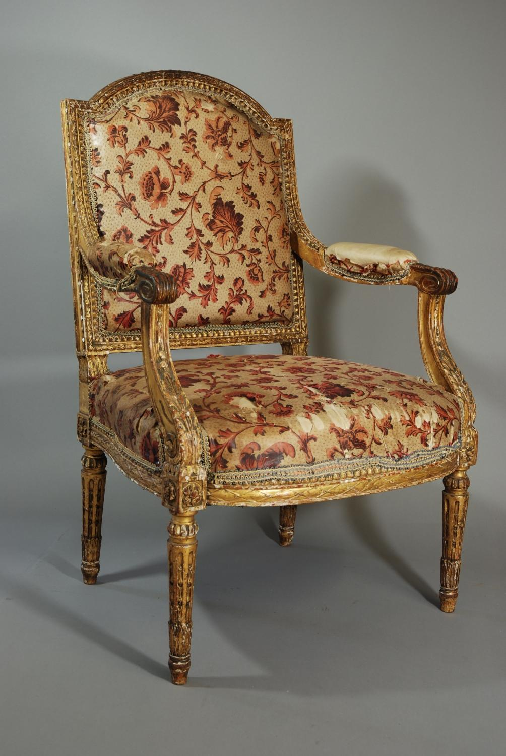 Mid 19th century French fauteuil