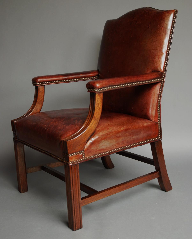 Leather Gainsborough chair