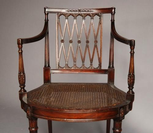 Edwardian mahogany Sheraton style chair
