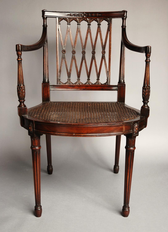 ... Edwardian Mahogany Sheraton Style Chair   Picture ...