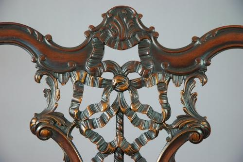Chippendale revival mahogany chair