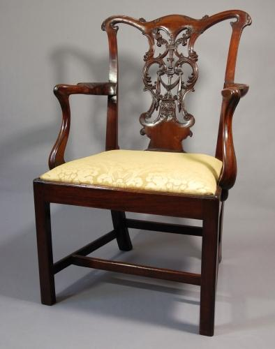 18thc George III open armchair