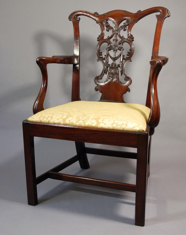 18thc George III open armchair