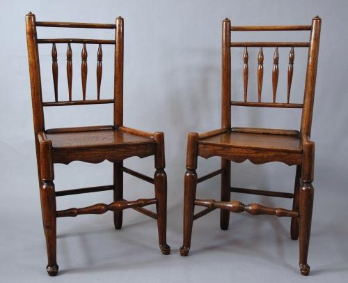 Pair of spindle back chairs