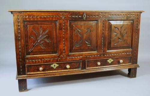 18th century elm mule chest, possibly Irish