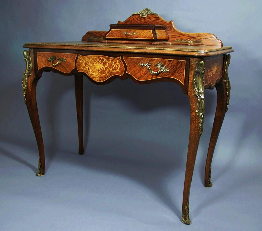 Early 20thc French Kingwood writing table