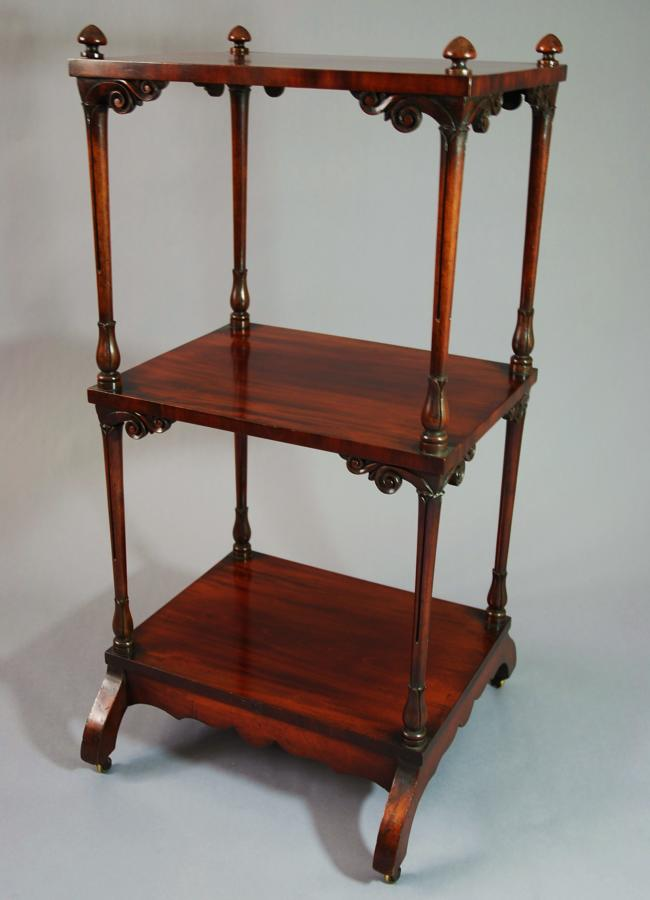 19thc mahogany 3 tier whatnot