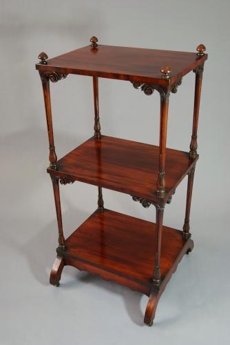 19thc mahogany 3 tier whatnot