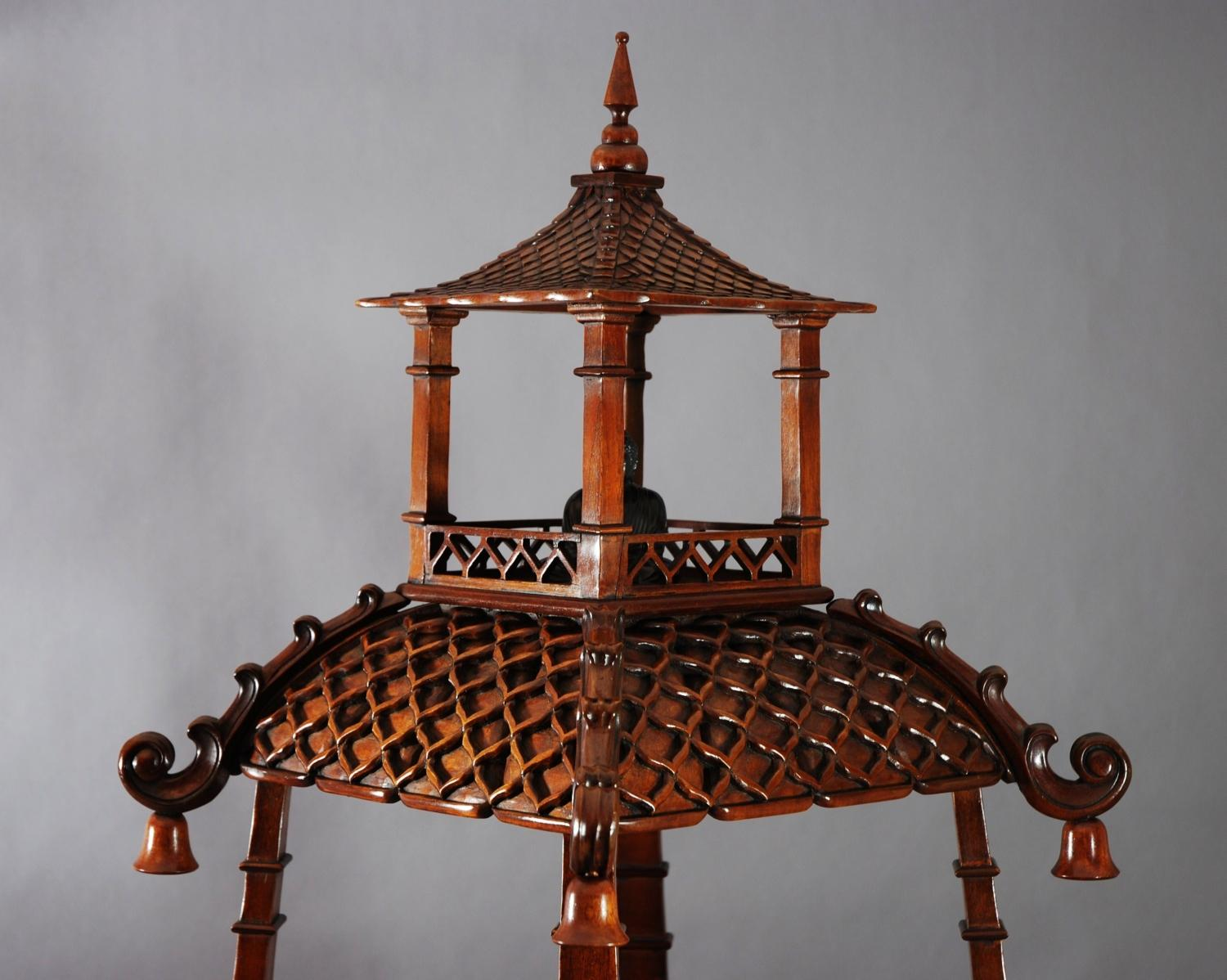 Chinese pagoda style 4 tier etagere