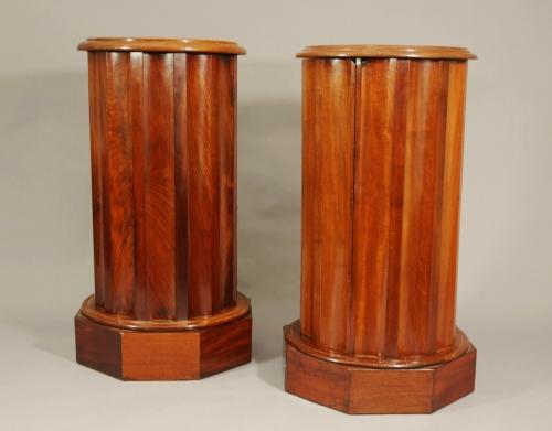 Mahogany cylindrical pot cupboards