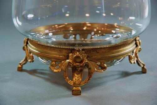 Highly Decorative glass bowl on ormolu stand