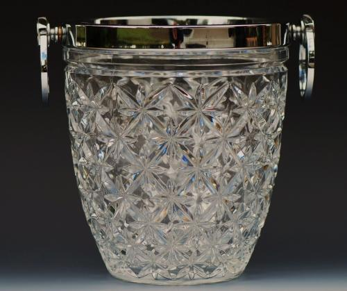 Moulded glass ice bucket
