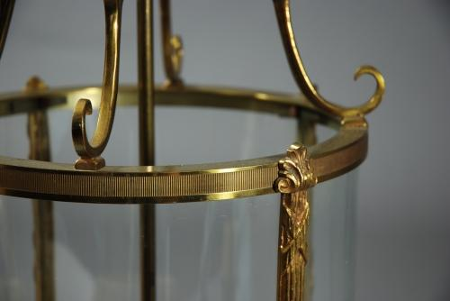 French gilt brass lantern