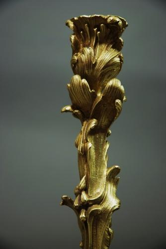 Pair of late 19thc ormolu candlesticks in the