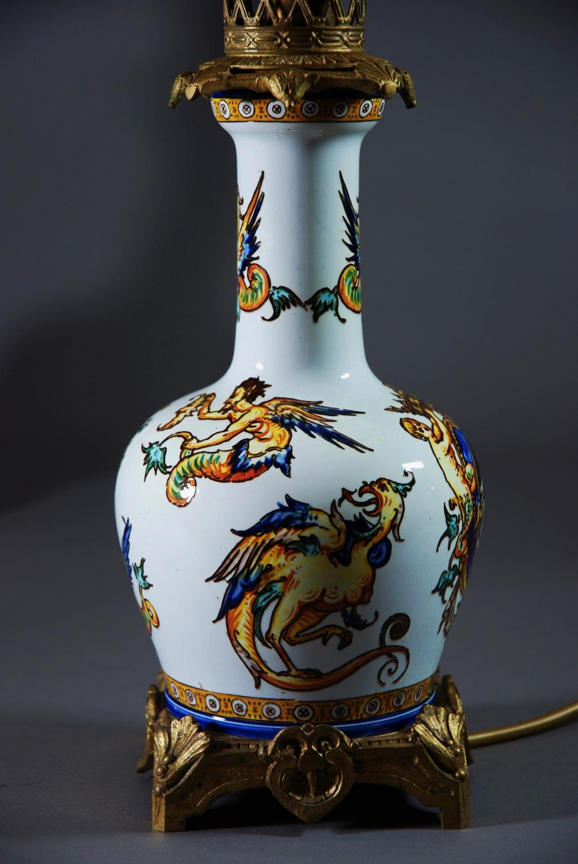 Pair of decorative ceramic lamps