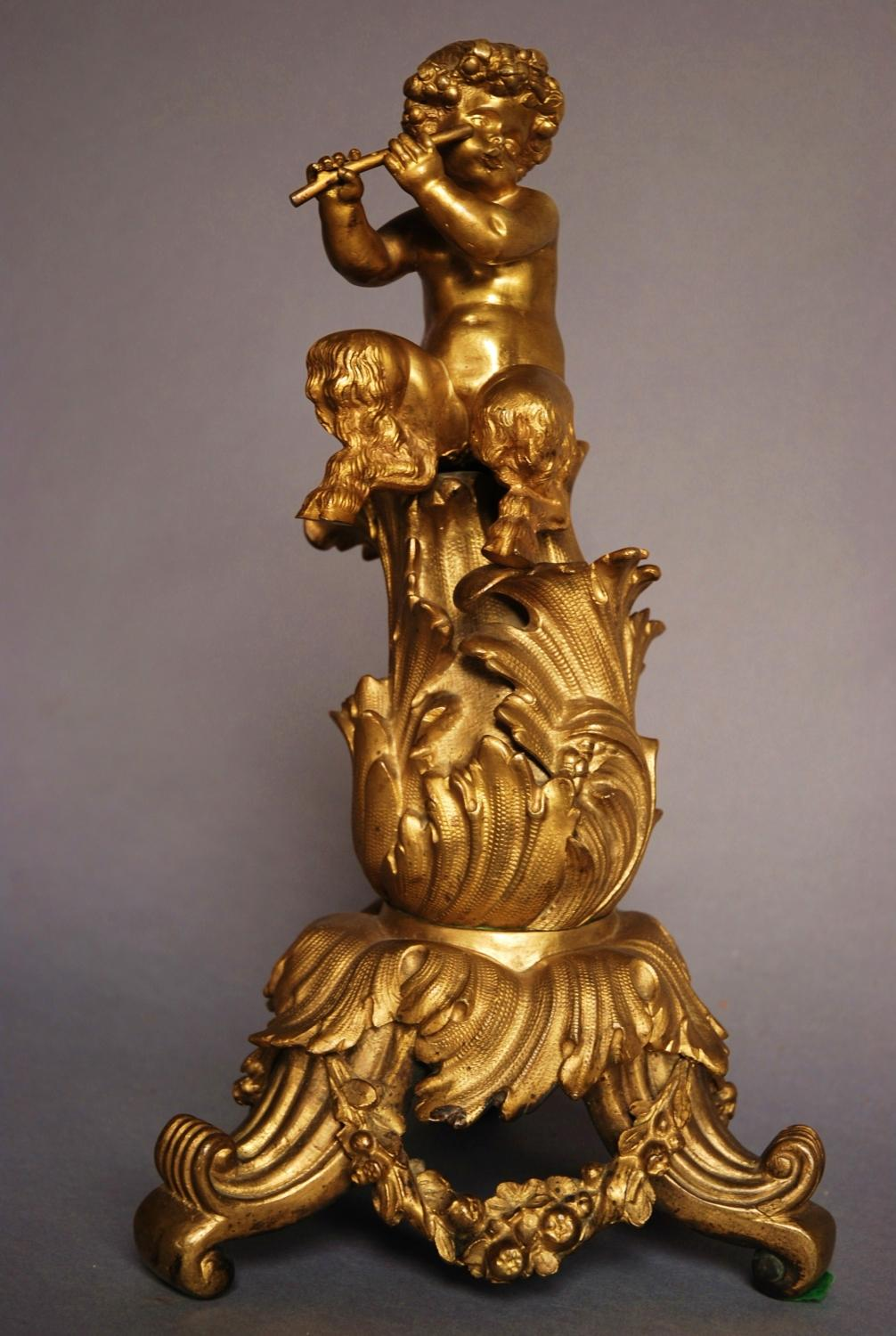 18thc ormolu figure of a cherub