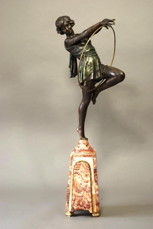 deco spelter figure of hoop in sold archive