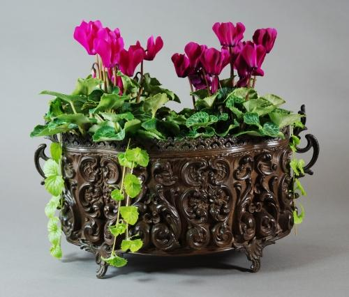 French metal jardiniere in the Rococo style