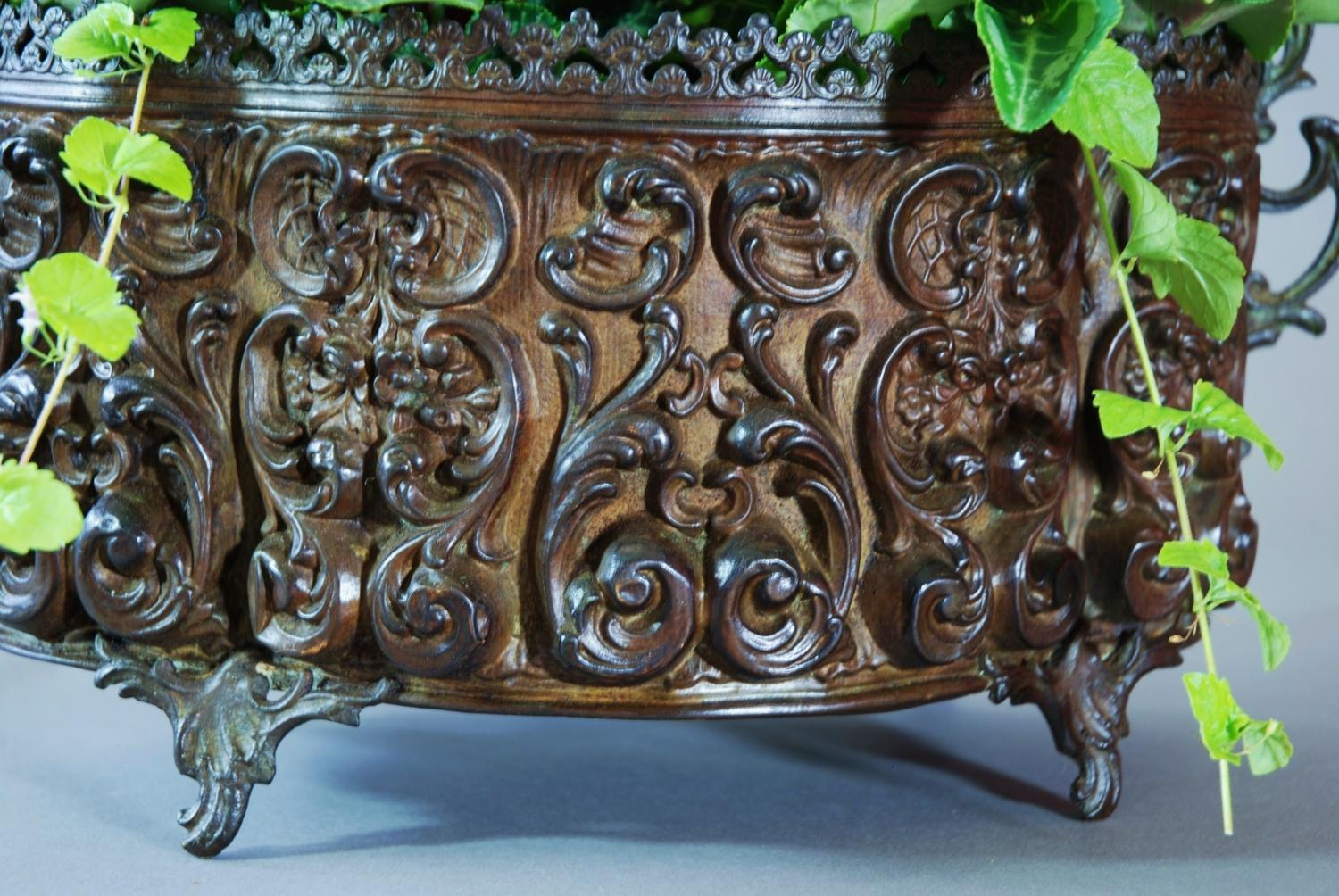 French metal jardiniere in the rococo style in sold archive for What is the other name for the rococo style