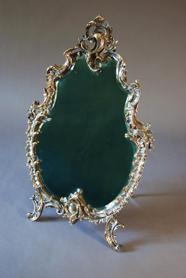 Fine quality silvered Rococo style mirror