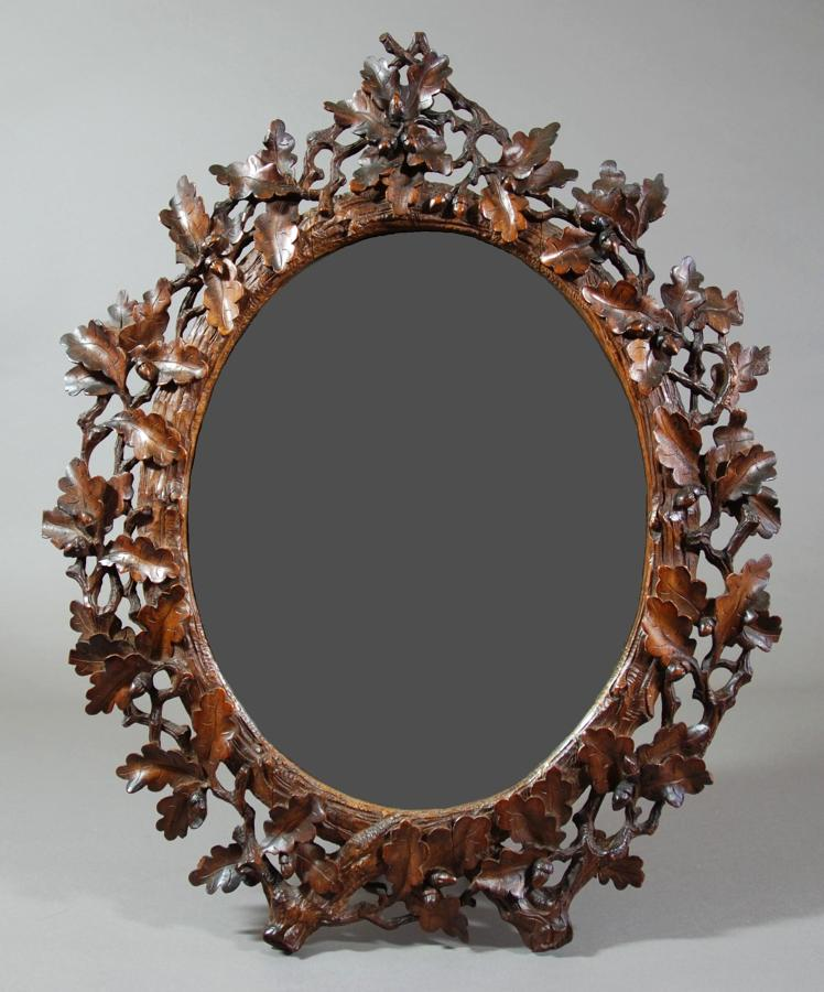 Late 19thc Black Forest mirror