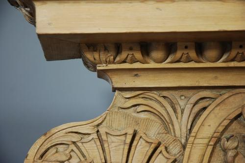 Superbly carved George III Pine mantel