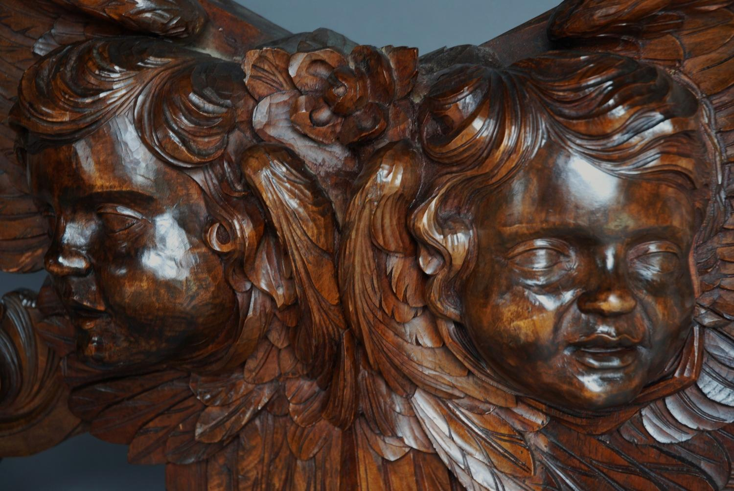 Mid 19thc Italian carved walnut wall carving