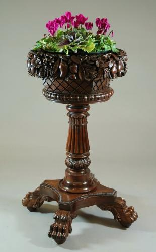 Anglo Indian hardwood jardiniere stand