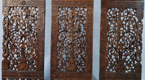 Carved Burmese panels