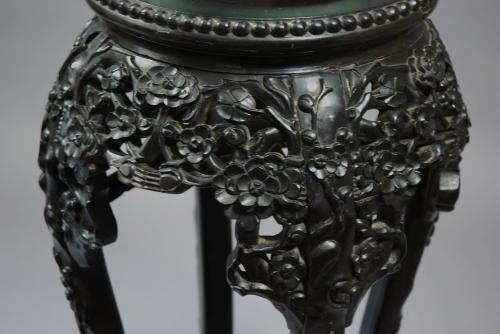 19thc ebony Chinese pot stand