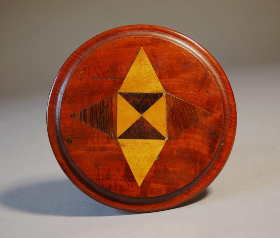 19thc mahogany miniature table