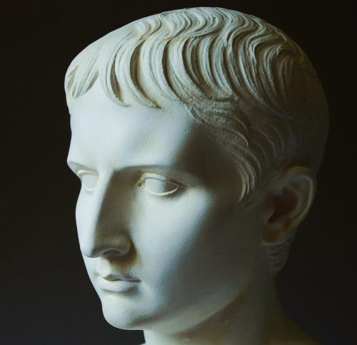Plaster bust of young Emperor Caesar