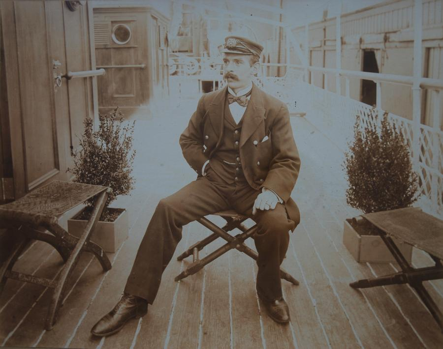 Original sepia photograph of sea Captain