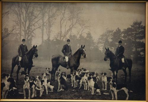 Victorian original photograph of Huntsmen